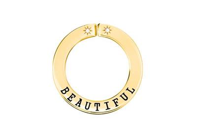 Buy Lily and Lotty Yellow Gold 'BEAUTIFUL' Scripted Pendant