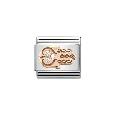 Buy Nomination Rose Gold & CZ Hand of Fatima Charm