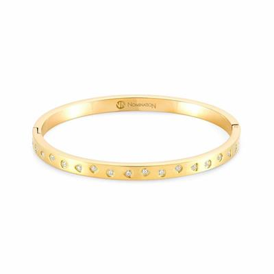 Buy Nomination Gold Infinito Bangle with CZ