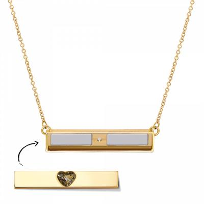 Buy Take What You Need Gold Toned Bar Necklace