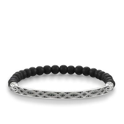 Buy Thomas Sabo Love Bridge Black Obsidian Braid Bracelet