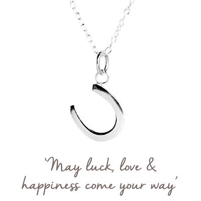 Buy Horseshoe Mantra Necklace in Silver