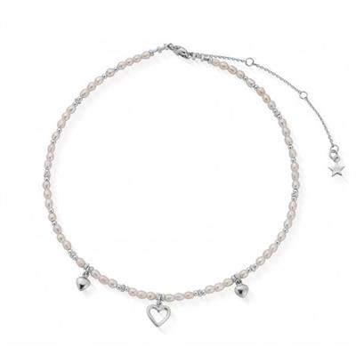 Buy ChloBo Forever Love Necklace | Sterling Silver & freshwater pearl beads