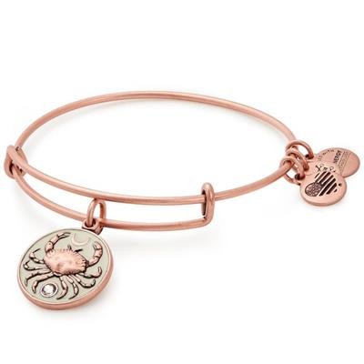 Buy Alex and Ani Crab Colour Infusion Bangle in Rafaelian Rose Gold