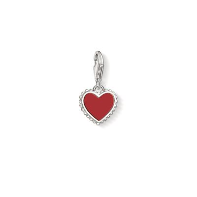 Buy Thomas Sabo Red Heart with Silver Beading Charm