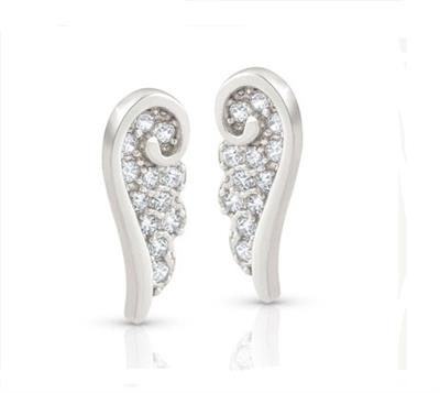 Buy Nomination Angel CZ Studs Silver