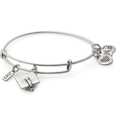 Buy Alex and Ani 2017 Graduation Cap Charm Bangle in Rafaelian Silver