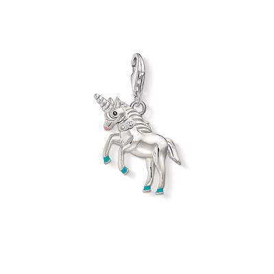 Buy Thomas Sabo Silver and Blue Unicorn Charm