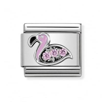 Buy Nomination Silver CZ Flamingo Charm