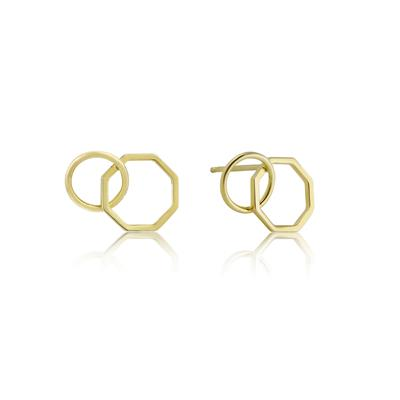 Buy Ania Haie All Ears Gold Two Shape Earrings
