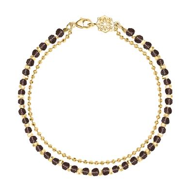 Buy Dower and Hall 18ct Gold Vermeil and Quartz Bead Orissa Bracelet