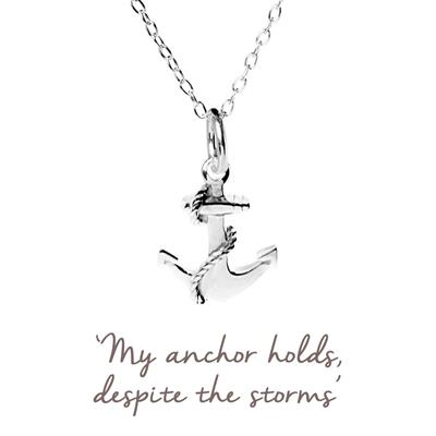Buy Mantra Anchor Protection Necklace in Silver