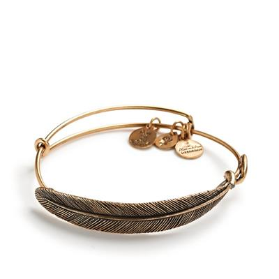 Buy Alex and Ani Quill Feather Wrap in Rafaelian Gold