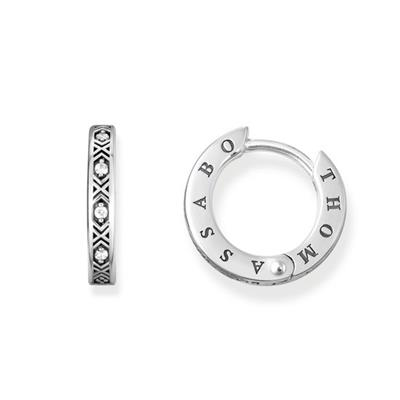 Buy Thomas Sabo Black CZ Hoop Earrings