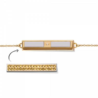 Buy Take What You Need Gold Toned Bar Bracelet