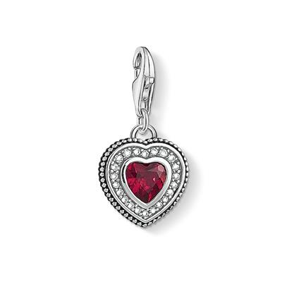 Buy Thomas Sabo Red Cordundum Beaded Heart Charm