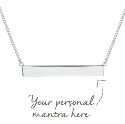 Buy MyMantra Bar myMantra Necklace in Sterling Silver
