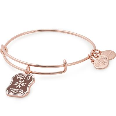 Buy Alex and Ani Unity is Strength Colour Infusion Bangle in Shiny Rose Gold