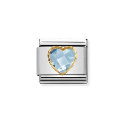 Buy Nomination Faceted Light Blue CZ Heart