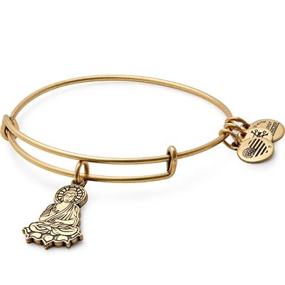 Buy Alex and Ani Buddha II bangle in Rafaelian Gold
