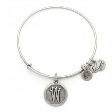 Buy Alex and Ani W Initial Bangle in Rafaelian Silver