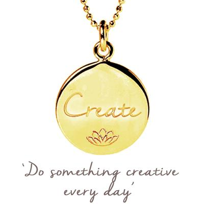 Buy Mantra Emily Quinton Create Disc Necklace in Gold