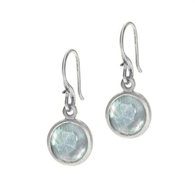 Buy Dower and Hall Silver Labradorite Drop Earrings