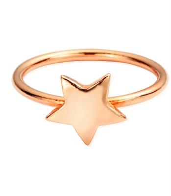 Buy ChloBo Rose Gold Star Ring Medium