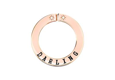 Buy Lily and Lotty Rose Gold 'DARLING' Scripted Pendant