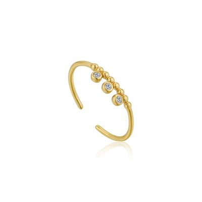 Buy Ania Haie Gold Shimmer Triple Stud Ring