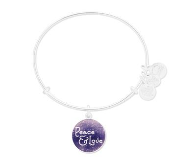 Buy Alex and Ani Peace & Love Art Infusion in Shiny Silver