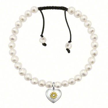 Buy Thomas Sabo Pearl Love Knot Bracelet with Heart and Flower