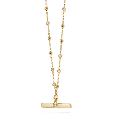 Buy Daisy Stacked Gold T Bar Necklace