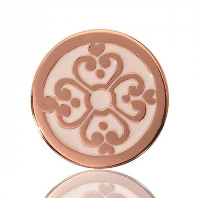 Buy Nikki Lissoni Rose Gold Baroque Labyrinth Coin 23mm