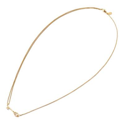 Buy Alex and Ani Skeleton Key Precious Pull Chain Necklace in Gold