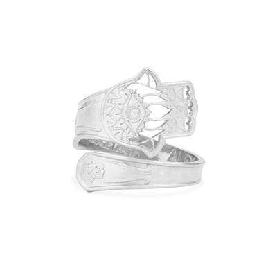 Buy Alex and Ani Hand of Fatima Spoon Ring in Silver