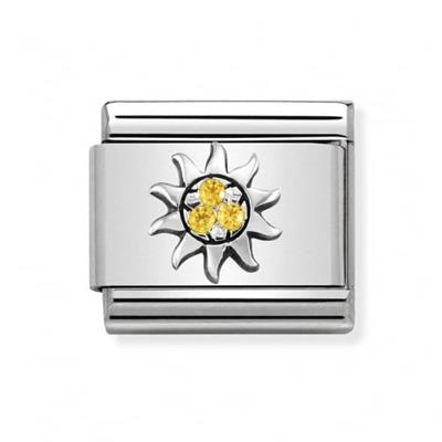 Buy Nomination Silver Yellow CZ Sun Charm