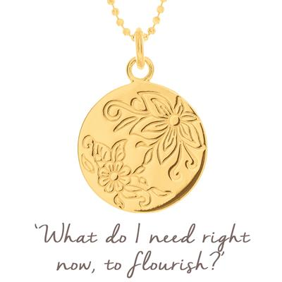 Buy Mantra Flower Flourish Disc in Gold