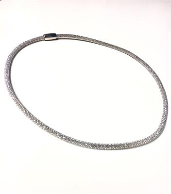 Buy Pure Attraction Mini Mesh Necklace in Silver
