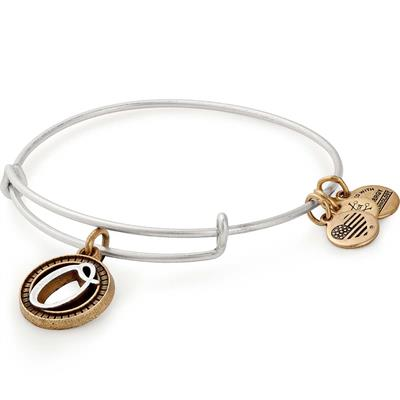 Buy Alex and Ani O Initial Two-Tone Bangle