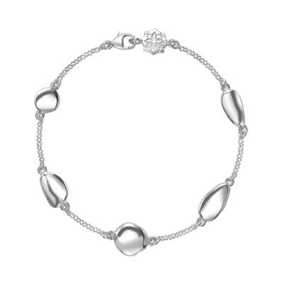 Buy Dower and Hall Sterling Silver Pebble Chain Bracelet