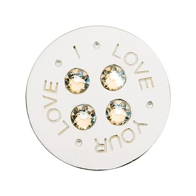 Buy Nikki Lissoni I Love Your Love Silver Coin 23mm