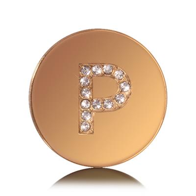 Buy Nikki Lissoni Letter P Small Gold Coin