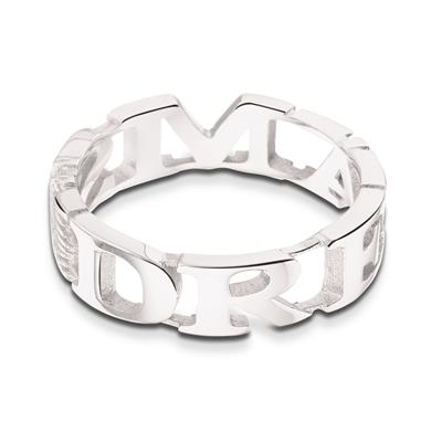 Buy Take What You Need Silver Toned Dreams Ring 54