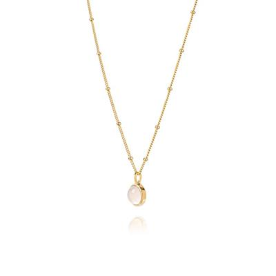 Buy Daisy Yellow Gold Rose Quartz Love Healing Stones Necklace