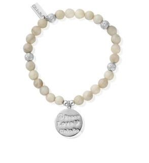 Buy Grey Agate Peace Love ChloBo Disc Bracelet