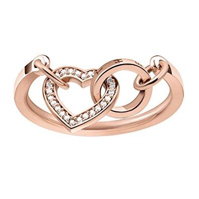 Buy Thomas Sabo Together Forever Rose Gold & CZ Heart Ring Size 54