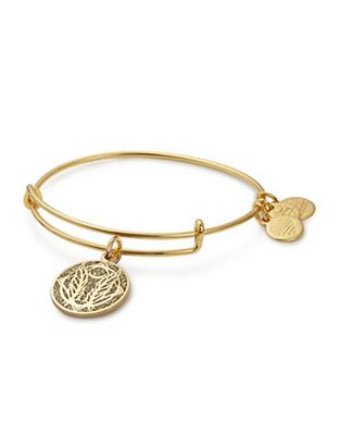 Buy Alex and Ani Godspeed Colour Infusion Bangle in Shiny Gold
