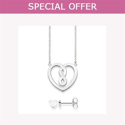 Buy Thomas Sabo Sterling Silver Valentine's Heart Set