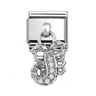 Buy Nomination Hanging CZ Silver Scorpion